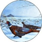 Winter Pheasents Spare Tire Cover