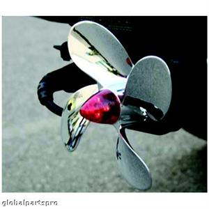 Chrome Propeller Hitch Cover with LED Brake Light