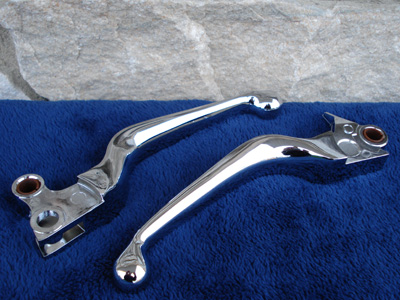 CHROME CLUTCH BRAKE LEVERS PARTS FOR HARLEY TOURING