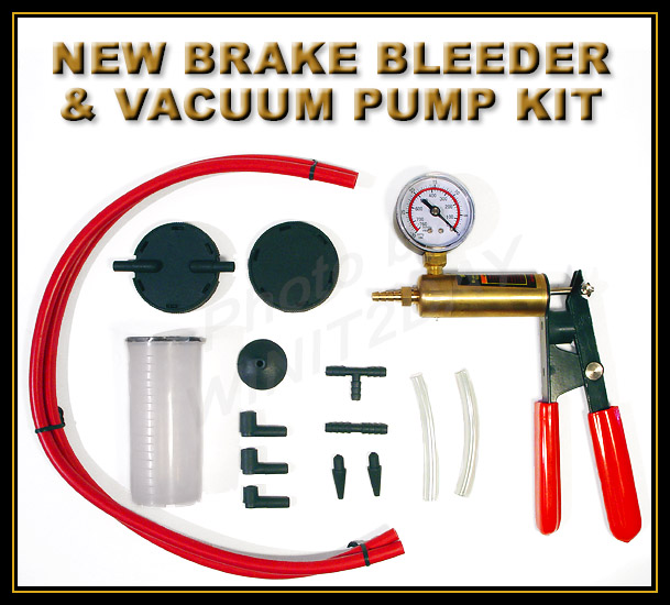 NEW BRAKE BLEEDER VACUUM PUMP KIT AUTOMOTIVE TOOLS