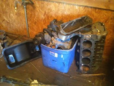 67 ford mustang 289 engine disassembled (all parts)