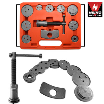 Neiko 12 Pcs Disc Brake Caliper Auto Wind Back Tool Kit
