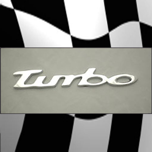 VW TURBO EMBLEM BADGE JETTA BEETLE GOLF PASSAT 4/5 MR2