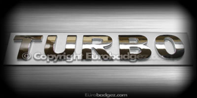vw TURBO oem chrome badge emblem gti jetta gli tdi