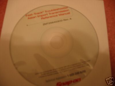 Snap On SOLUS MODIS 05 Asian Transmission Manual CD