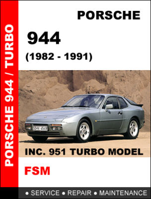 PORSCHE 944 951 TURBO FACTORY SERVICE REPAIR MANUAL CD