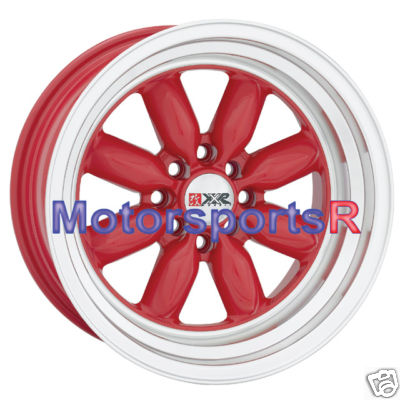 16 8 513 RED XXR wheels Rims Miata Scion xB Xa AE86 E30