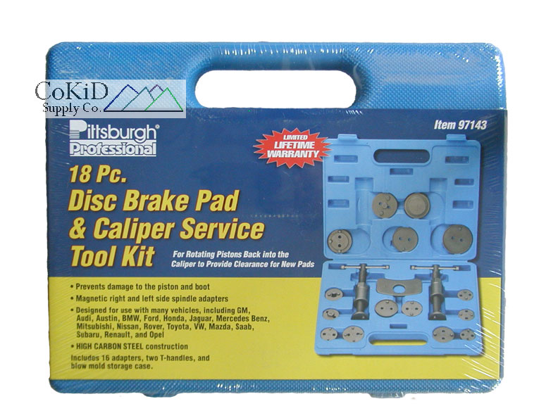 18 Pc Disc Brake Pad & Caliper Repair Tool Set Kit