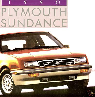 1990 PLYMOUTH SUNDANCE BROCHURESUNDANCE RS TURBO