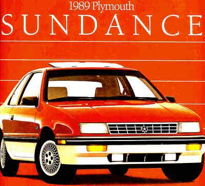 1989 PLYMOUTH SUNDANCE BROCHURESUNDANCE RS TURBO