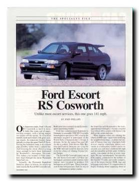 Ford Escort RS Cosworth Pages 2.0 Turbo AWD 1994