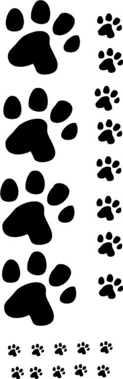 22 Paw Foot Prints Dog Decal Bumper Sticker Car Window