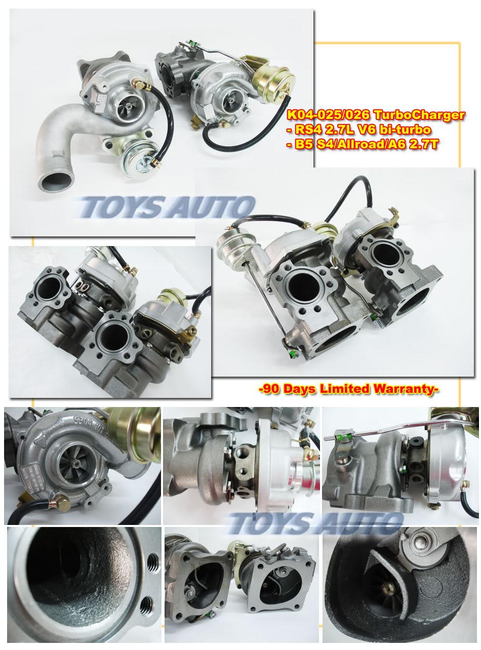 K04 KO4 025 026 BITURBO CHARGER AUDI RS4 2.7T V6 0001