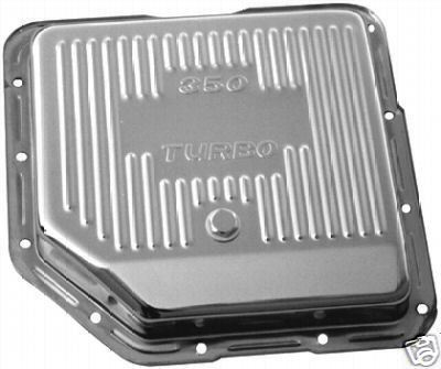 CHROME GM CHEVY TURBO 350 TRANSMISSION PAN, TH350