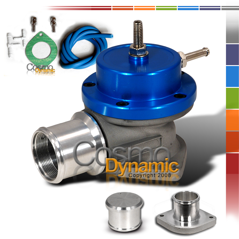 BLUE TURBO BLOW OFF VALVE BOV TYPE S RS SSQV 1″ FLANGE