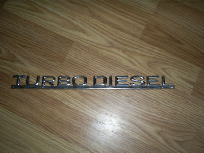 Mercedes Turbo Diesel Emblem 116 817 19 15
