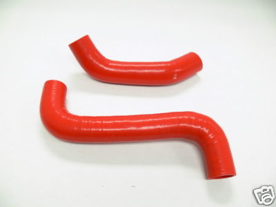 OBX Red Radiator Hose Kit Subaru WRX Turbo 0205 All
