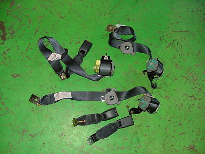 02 Subaru Impreza WRX Turbo REAR SEAT BELTS OEM Black