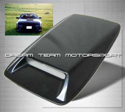 JDM HOOD SCOOP AIR FLOW TURBO BLACK CIVIC INTEGRA 240SX