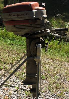 Neat 1953 Atlas Royal 5hp Neutral Clutch Outboard Motor