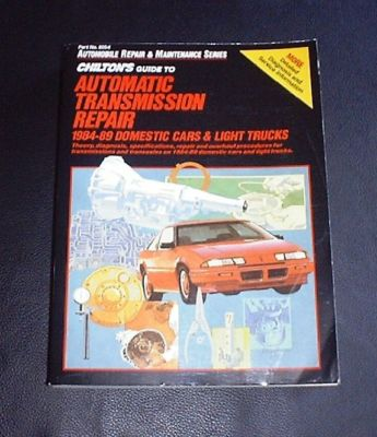 CHILTON'S AUTOMATIC TRANSMISSION REPAIR 198084