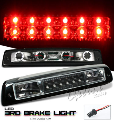 9401 DODGE RAM BLACK LED TAIL 3RD BRAKE LIGHT 95 96 97