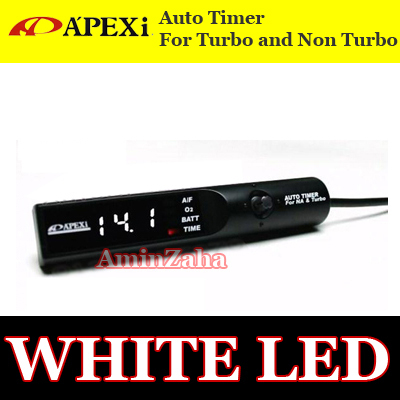 APEXI TURBO TIMER WHITE LED NA TURBO EVO WRX RX7 STI