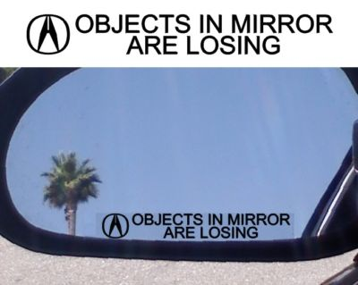 MIRROR DECAL FOR ACURA TL RL NSX MDX RS GS LS RDX TURBO