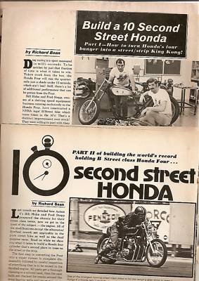 1971 Honda 750 FOUR CHASSIS & ENGINE HOP UPS 11 pages