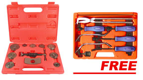 Astro Pneumatic 11 pc Disc Brake Pad & Caliper Tool Kit