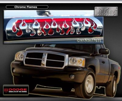 Chrome Flame 3rd Brake Light Cover 05 06 07 Dodge RAM