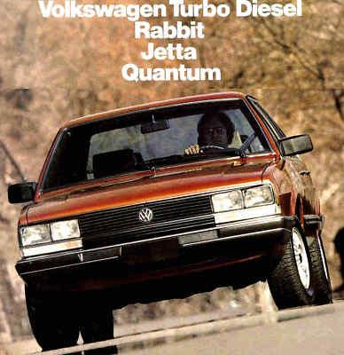 1983 VW TURBO DIESEL BROCHURERABBITJETTAQUANTUM