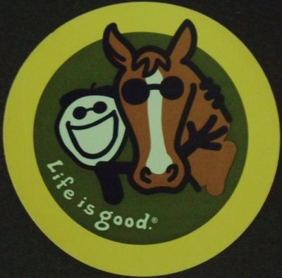 HORSE ? LIFE is GOOD ? auto decal ? bumper sticker