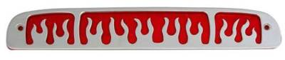 9709 Dodge Dakota billet Third Brake light cover Flame