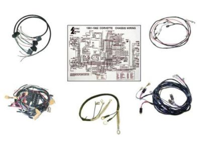 1962 Corvette Wire Harness Kit Manual Transmission