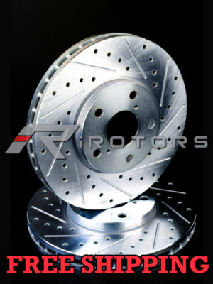 Ford Thunderbird 1996 1997 Drilled Slot Brake Rotors F