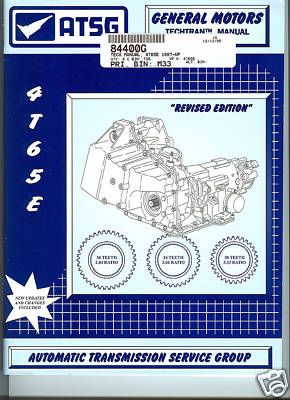 GM 4T65E, ATSG TRANSMISSION SERVICE MANUAL (M84400G)