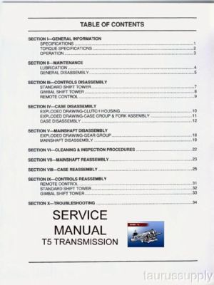 T5 5 Speed Transmission Service Manual