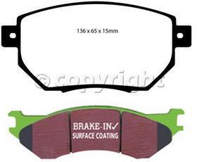 EBC Brake DP61659 Front Premium Organic Pads
