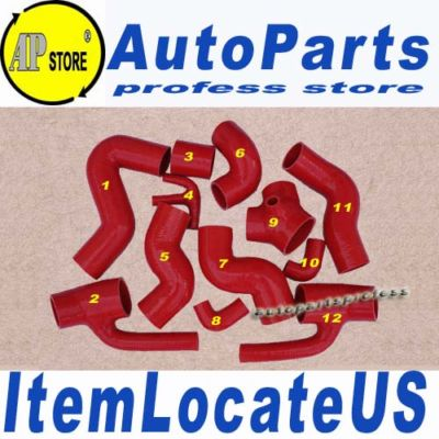 Silicone Turbo Hose Audi S4/RS4 2.7L BiTurbo 12pcs Red