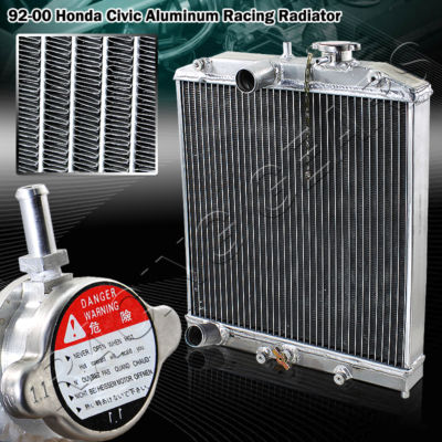 Aluminum Dual Core Manual Transmission Racing Radiator