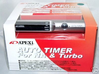 APEXI APEX AUTO TURBO TIMER TT SILVER BRAND