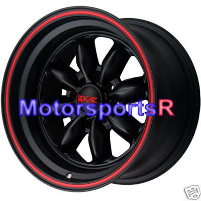 16 XXR Wheels 513 Black Staggered 03 05 06 Scion xA xB