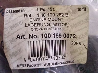 VW Meyle Engine Mount Lagerung Motor 100 199 0072