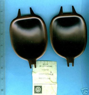 Volkswagen BUG  Door Handle Shields Black from 2/71