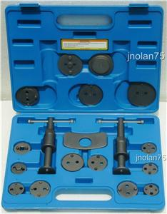 18 Piece Disc Brake Pad & Caliper Service Tool Set Kit