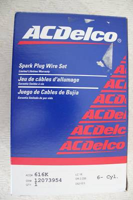 AC Delco Spark Plug Wires Part# 616K GM# 120739954