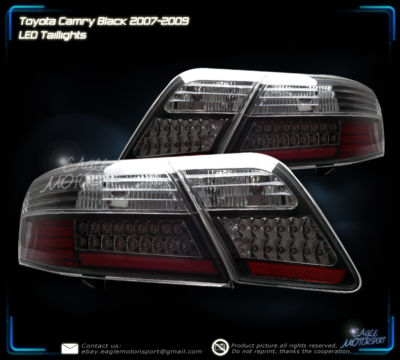0709 TOYOTA CAMRY CE/LE/SE BLK LED BRAKE TAIL LIGHTS