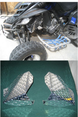 YAMAHA RAPTOR 660 ALUMINUM ENGINE AIR SCOOPS, SHROUDS
