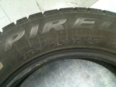 Set of FOUR  175/65/R15 (84T) Pirelli Winter Tires